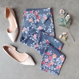 Citizens of Humanity Blue Floral Thompson Jean 29